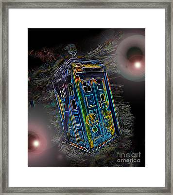 Tardis - Through Time And Space Framed Print by Rhonda Chase