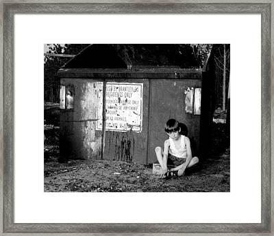Thrown Away Framed Print by Dana  Oliver