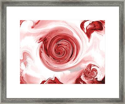 Thunder And Roses Framed Print by Abstract Angel Artist Stephen K