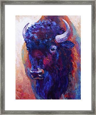 Thunder Horse Framed Print by Marion Rose