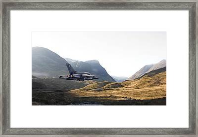 Thunder In The Glen Framed Print by Pat Speirs