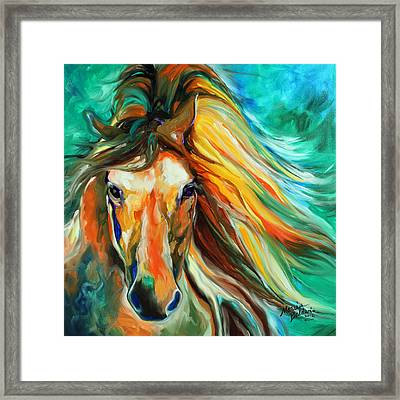 Thunder Run Abstract Framed Print by Marcia Baldwin