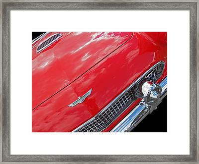 Thunderbird '56 Detail Framed Print by Gill Billington