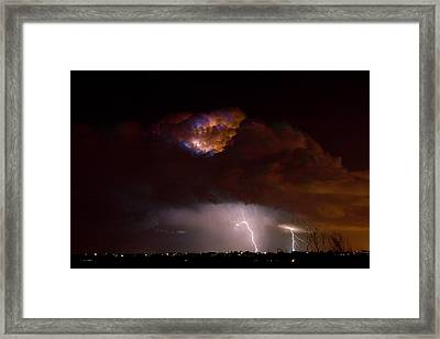Thunderstorm Boulder County 08-15-10 Framed Print by James BO  Insogna
