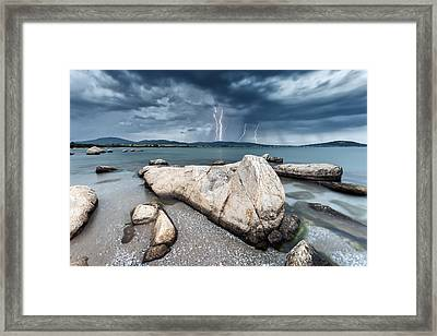 Thunderstorm  Framed Print by Evgeni Dinev