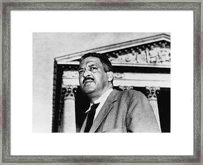 Thurgood Marshall, Naacp Chief Counsel Framed Print by Everett