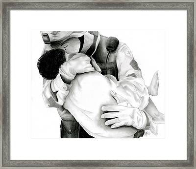Thy Will Be Done Framed Print by Ruth Blum
