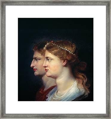 Tiberius & Agrippina Framed Print by Granger