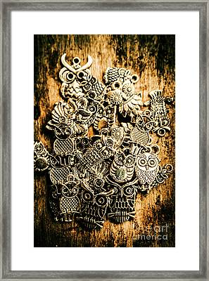Tibetan Owl Charms Framed Print by Jorgo Photography - Wall Art Gallery