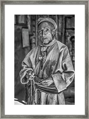 Tibetan Refugee Bw Framed Print by Steve Harrington