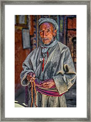 Tibetan Refugee Framed Print by Steve Harrington