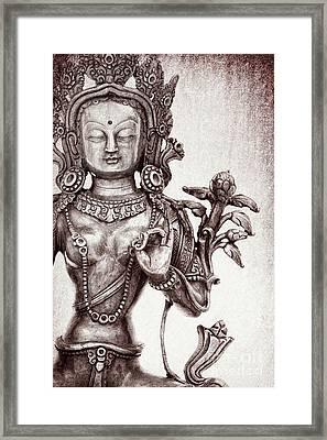 Tibetan Tara Framed Print by Tim Gainey