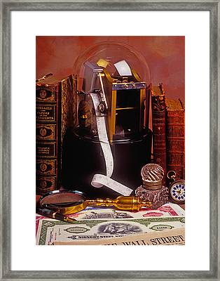 Ticker Tape Machine Framed Print by Garry Gay