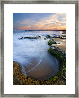 Tidal Bowl Framed Print by Mike  Dawson