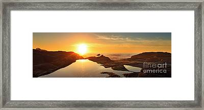 Tidal Pools Framed Print by Beve Brown-Clark Photography
