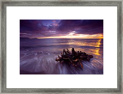 Tide Driven Framed Print by Mike  Dawson