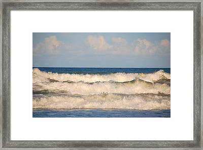 Tide Rolling To The Shores Framed Print by Susanne Van Hulst
