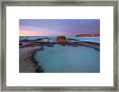 Tidepool Dawn Framed Print by Mike  Dawson