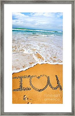 Tides Of Romance Framed Print by Jorgo Photography - Wall Art Gallery