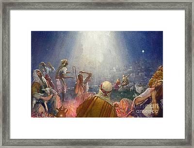 Tidings Of Great Joy Framed Print by John Millar Watt