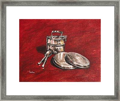 Tiffin Carrier - Still Life Framed Print by Usha Shantharam