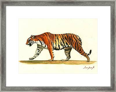 Tiger Animal  Framed Print by Juan Bosco