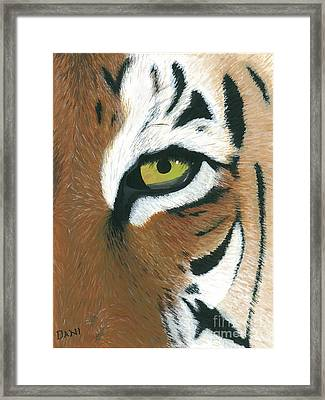 Tiger Framed Print by Dani Moore