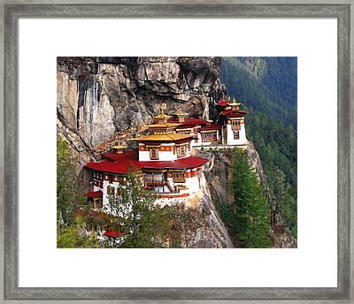 Tigers Nest Bhutan Framed Print by Jim Kuhlmann