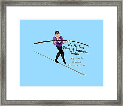 Tightrope Walker Framed Print by David Richard designs