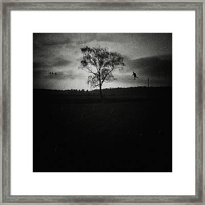 Tightrope Walker Framed Print by Joanna Jankowska