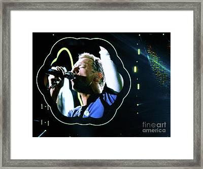 Chris Martin - A Head Full Of Dreams Tour 2016  Framed Print by Tanya Filichkin
