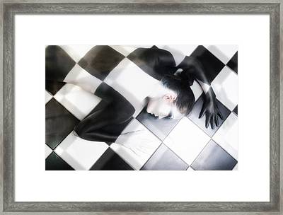 Tile Tales Framed Print by Derek Galon