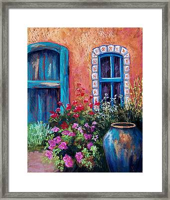 Tiled Window Framed Print by Candy Mayer