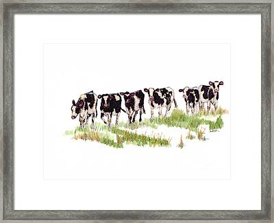 Till The Cows... Framed Print by Jan Killian