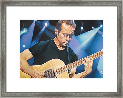 Tim Reynolds And Lights Framed Print by Joshua Morton