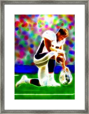 Tim Tebow Magical Tebowing 2 Framed Print by Paul Van Scott