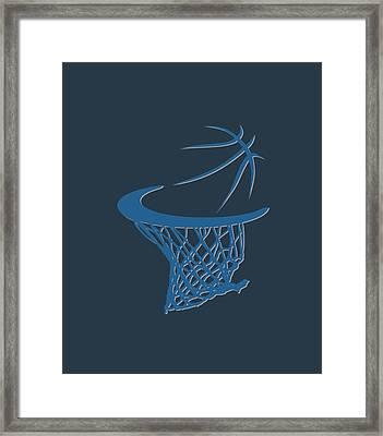 Timberwolves Basketball Hoop Framed Print by Joe Hamilton