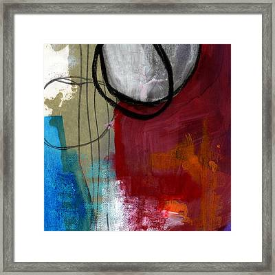 Time Between- Abstract Art Framed Print by Linda Woods