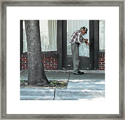 Time Check Framed Print by Joe Jake Pratt