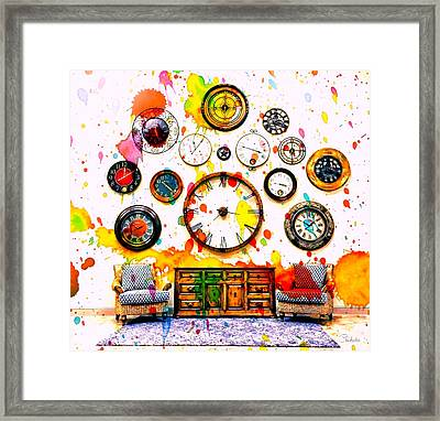 Time For Art Framed Print by Barbara Chichester
