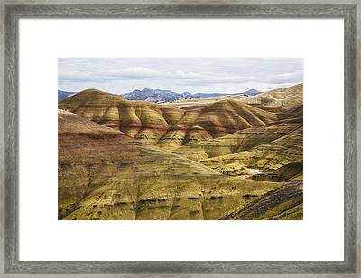 Time In Layers Framed Print by Belinda Greb