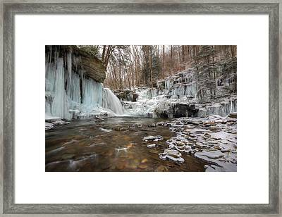 Time Is A Stream Framed Print by Lori Deiter
