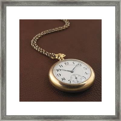 Time Framed Print by Jerry McElroy