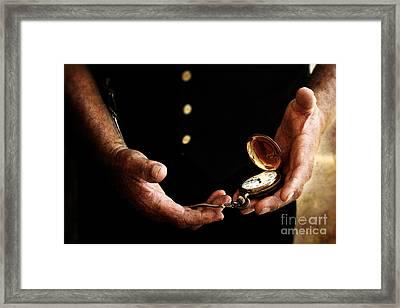 Time Keeper Framed Print by Stephanie Frey