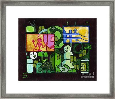 Time Killer Framed Print by Dan Keough