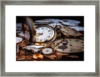 Time Machine Still Life Framed Print by Tom Mc Nemar