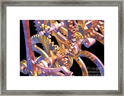 Time Mechanics V1 Framed Print by Michael Geraghty