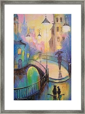 Time Of Love Framed Print by Olha Darchuk