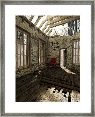 Time Out Framed Print by Cynthia Decker