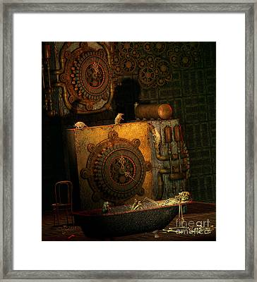 Time Passes Framed Print by Jutta Maria Pusl